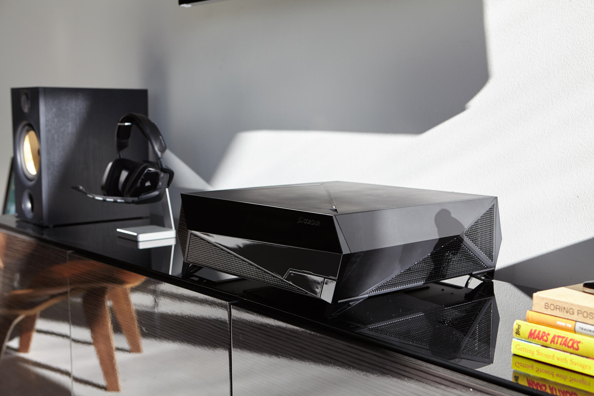 Arresting Corsair Bulldog Allows Installing Graphics Such As Reference Geforce Living Room Is Now Available Bulldog Pc Barebone Internal Architecture curbed Bare Bones Furniture