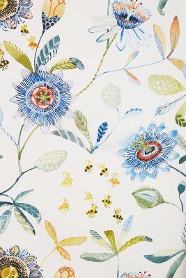 Garden Buzz Wallpaper   Anthropologie