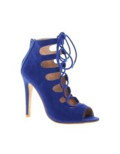 London Rebel Gillie Caged Lace Up High Heel