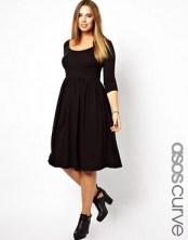 Image 1 ofASOS CURVE Midi Dress With Scoop Neck In Nepi