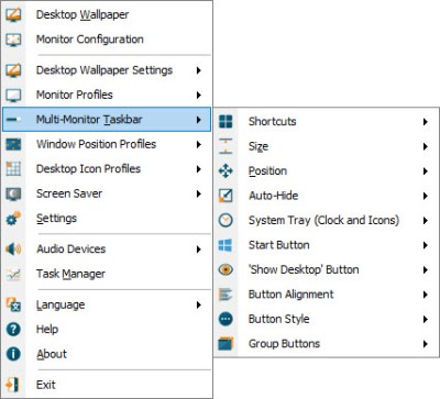 Multi-Monitor Taskbars • Features • DisplayFusion by Binary Fortress Software