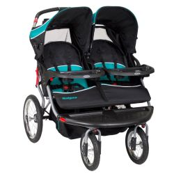 Small Crop Of Double Stroller With Car Seat