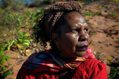 Dr Anne Poelina, a Nyikina woman from the Kimberley, opposes the gas hub site.