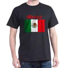 Mexican Flag Black T-Shirt