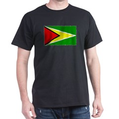 Guyana flag Black T-Shirt