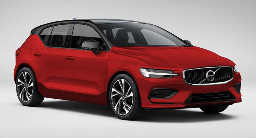 Upcoming Volvo V40 Puts On A Familiar Face In New Renderings   Carscoops Upcoming Volvo V40 Puts On A Familiar Face In New Renderings