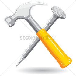 Small Of Hammer And Nail