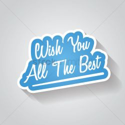 Sightly Wish You All Sign Vector Graphic Wish You All Sign Vector Image Stockunlimited Wish You On Wish You Your Future Endeavors