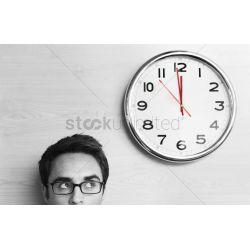 Enthralling Anxious Businessman Looking At Office Clock Stock Photo Anxious Businessman Looking At Office Clock Stock Photo Looking At Clocks Dreams Looking At Clock At Same Time