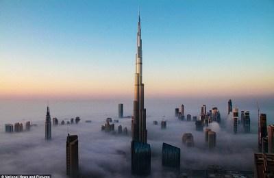 Paisaje increíble de la construcción más alta del mundo ...