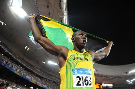 Usain Bolt Jamaca Beijing Olympics 2008 100 meters