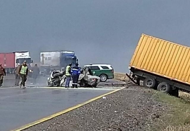 Cinco argentinos murieron en un brutal choque en el extremo sur de Chile