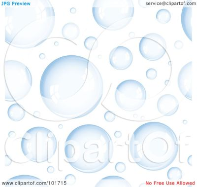 Royalty-Free (RF) Clipart Illustration of a Background Pattern Of Blue Bubbles On White by ...