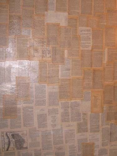 Decoupaged Wall · How To Make Wallpaper / A Wall Painting · Decoupage on Cut Out + Keep