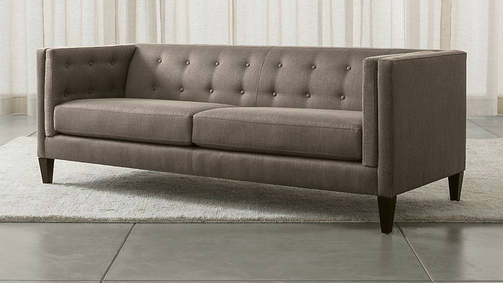 Grey Tufted Sofa Crate And Barrel19