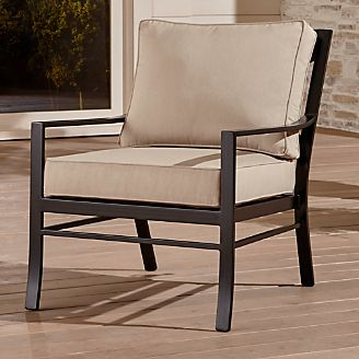 pin it regent lounge chair with sunbrella cushion metal furniture