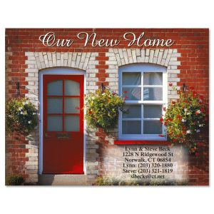 Sunshiny Red Door Moved Postcard Moved New Home Cards Current Catalog We Ve Moved Card Template We Ve Moved Card Insert