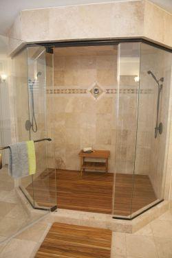 Small Of Teak Shower Mat