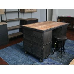 Small Crop Of Rustic Industrial Kitchen Island