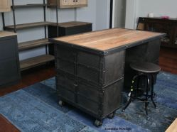 Small Of Rustic Industrial Kitchen Island