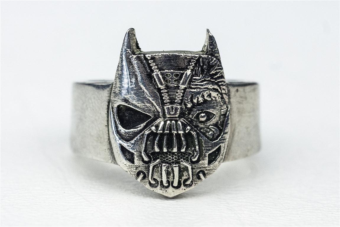 batman wedding ring set batman wedding ring Batman wedding ring set Hand Made Batman And Villian Superhero Comic Book Ring By Rock