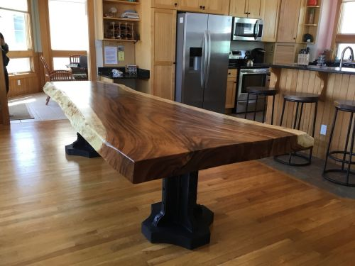 Medium Of Live Edge Dining Table