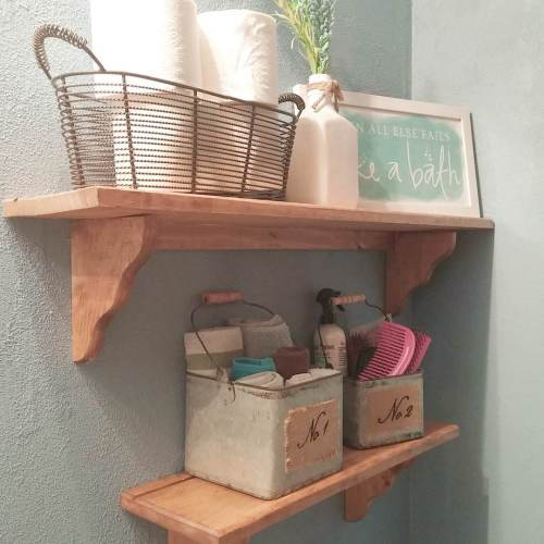 Medium Of Bathroom Hanging Shelf