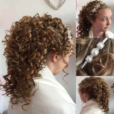 25+ Curly Wedding Hairstyle Ideas, Designs   Design Trends ...