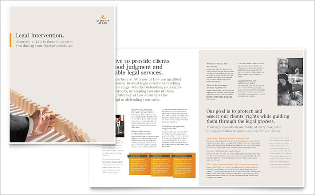 16  Law Firm Brochure Designs and Templates   Design Trends     Legal Advocacy Brochure Template