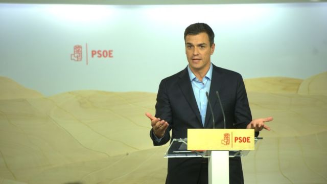 Pedro Sánchez durante la rueda de prensa posterior a la reunión de la Comisión Permanente / Foto: Borja Puig (PSOE)