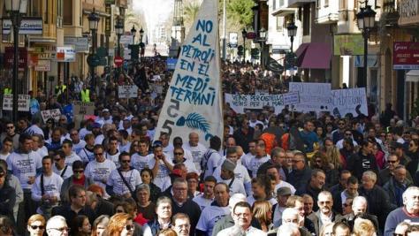 Más de 5.000 personas dicen no a las prospecciones petrolíferas en Castellón