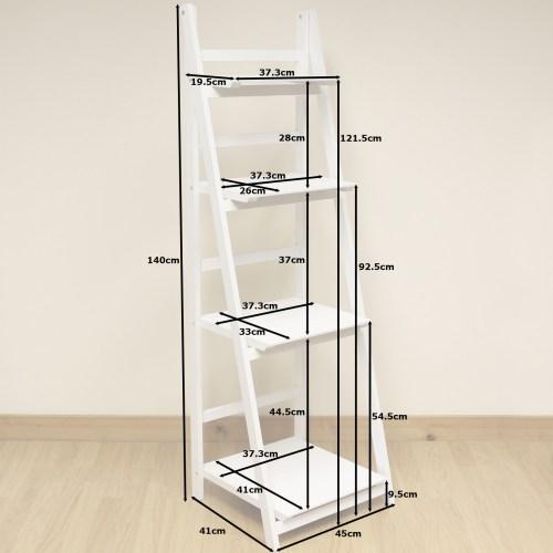 Medium Of White Ladder Shelf