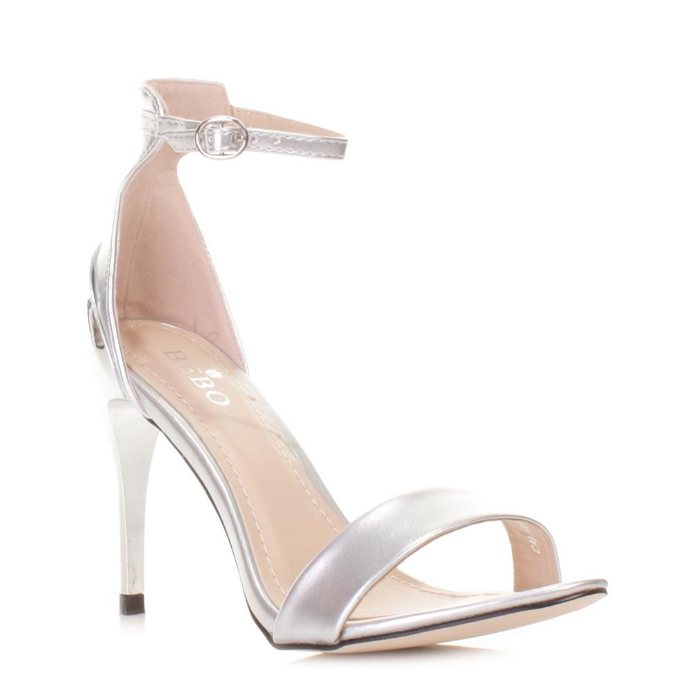 silver heels for wedding Silver Dress Sandals High Heel