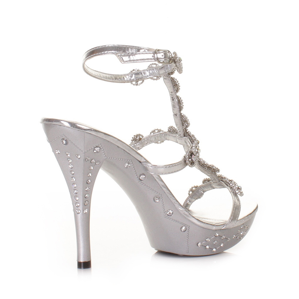 silver heels for wedding Item specifics
