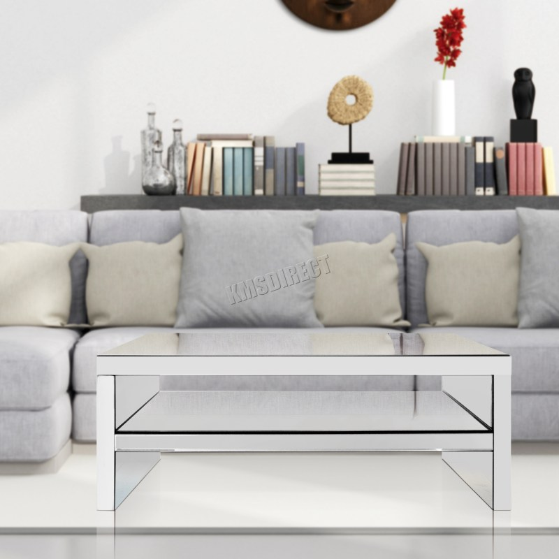 Large Of Mirrored Furniture For Living Room