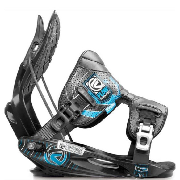 Flow M11 Snowboard Bindings 2012 in Black Size Medium