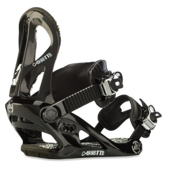 K2 Cassette Womens Snowboard Bindings 2012 in Black