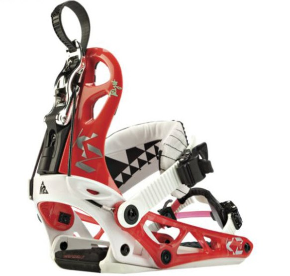 K2 Cinch Tryst Womens Snowboard Bindings 2012 in White