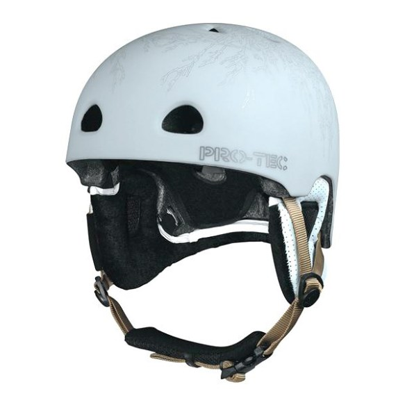 ProTec Assault Plantronic Snowboard Helmet 2010 in White Size Small