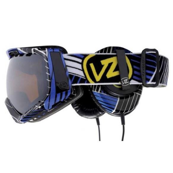 Von Zipper Feenom goggles 2010 Synchro Royal with Skull Candy Headphones