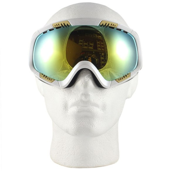 Von Zipper Feenom snowboard goggles 2011 in White Metallic Gold Chrome lens