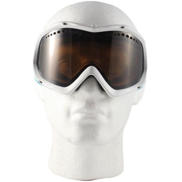 Von Zipper Bushwick snowboard Ski Goggles 2012 in White Blue Gloss Bronze Lens