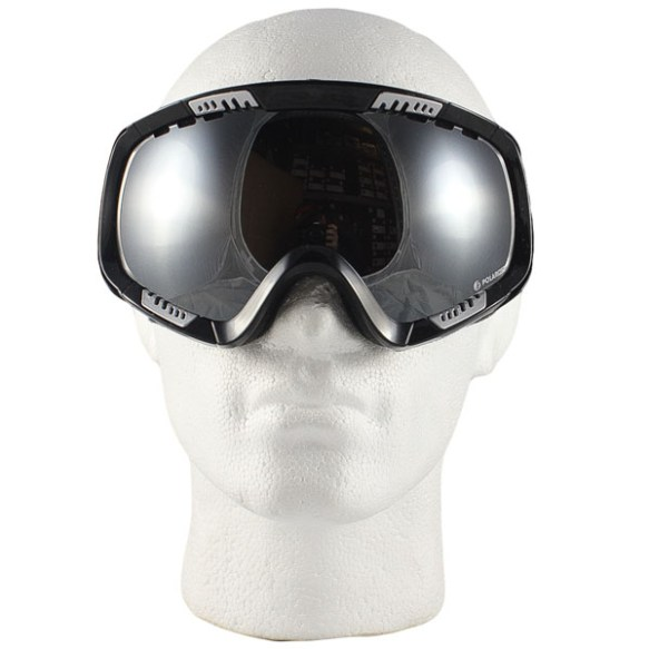 VonZipper Feenom snowboard ski goggles 2012 Black Gloss Bronze Polarized Chrome
