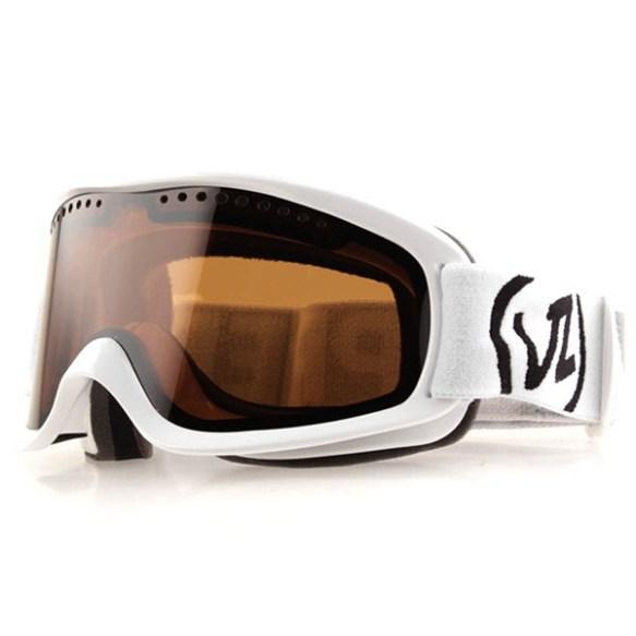 Von Zipper Sizzle snowboard ski goggles White Gloss Bronze lens new 2013