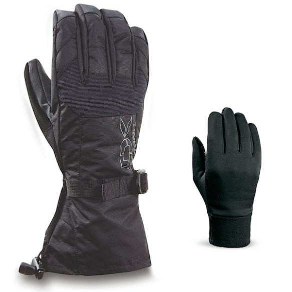 Dakine Scout Snowboard Ski Gloves 2012 in Black