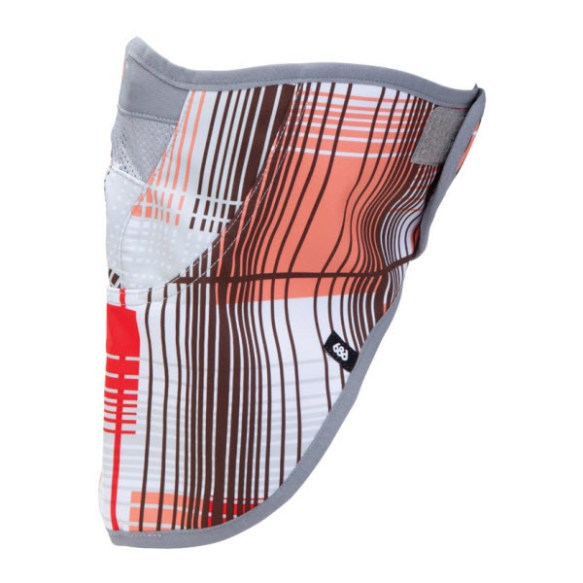 686 Womens Strap Face Mask Snowboard Ski Coral Plaid New 2013