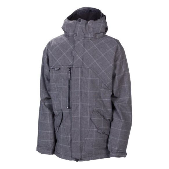 686 Reserved Colony Mens Insulated Snowboard Jacket Black Plaid New 2013
