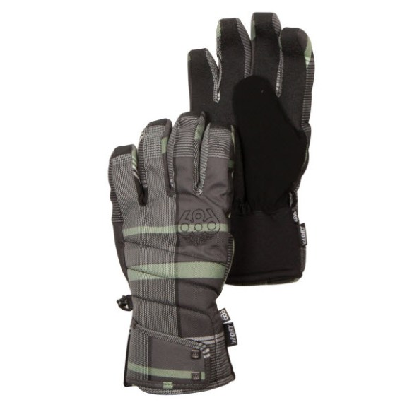 686 Womens Radiant Insulated Snowboard Ski Gloves Gunmetal Plaid Medium 2013