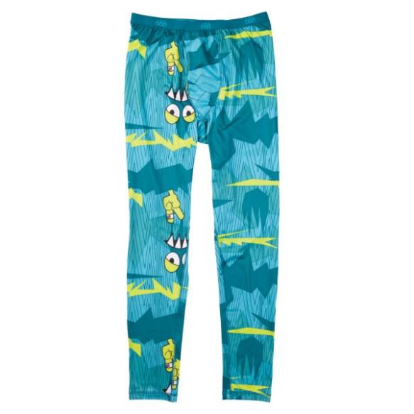 686 Mens Camotooth Base layer Thermal Pants Snowboard Ski Turquoise Large 2013