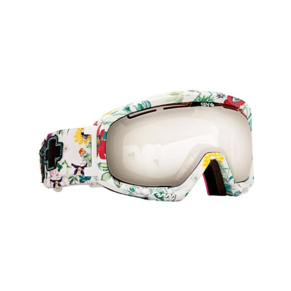 Spy Bias Flower Power Snowboard Ski Goggles Bronze Silver Mirror 2013